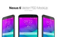 Nexus 6 多角度手机模型,PSD源文件