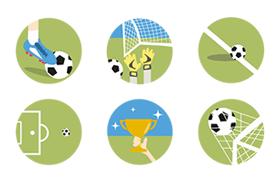 14枚足球相关图标,AI源文件