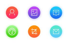 6枚iOS10 风格图标,PSD源文件