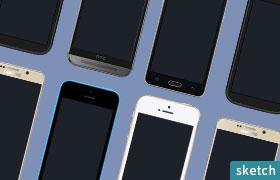 67款高清手机模型,PNG sketch格式