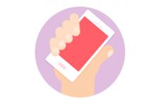 手持手机矢量素材,PSD源文件
