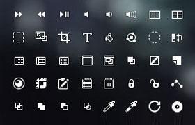 168枚像素小图标,PSD源文件