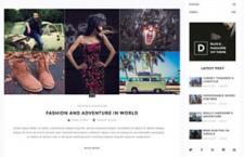 国外个性Blog网站模版,PSD源文件
