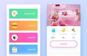 烹饪美食GUI界面,PSD源文件