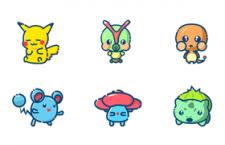 96枚Pokemon图标,PSD源文件