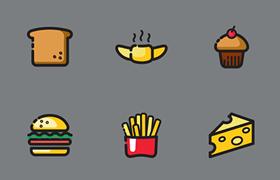 60枚美食图标,AI源文件
