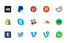 44枚社交图标,SVG格式