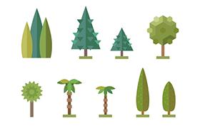 22款<font color=red>树</font>木矢量素材,AI源文件