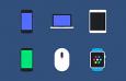 6款移动设备图标,PSD源文件