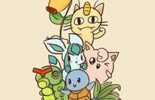 参考表情包,手绘有趣的Pokemon!