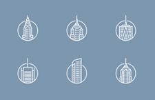 12枚建筑图标,PSD源文件