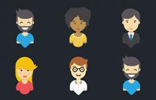 5枚用户头像图标,AI源文件