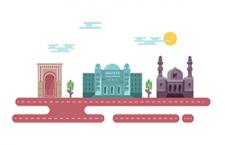 阿拉伯国家标志性建筑矢量素材,AI源文件