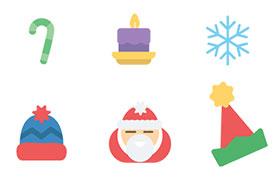 12枚圣诞节图标,AI源文件