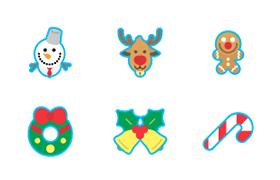 30枚圣诞节图标,AI源文件