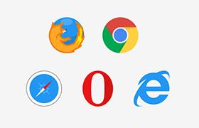 5款知名<font color=red>浏览器</font>图标,PSD AI源文件