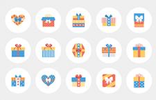 26枚礼物盒图标,AI PNG格式