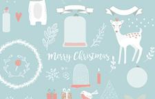 圣诞节卡通矢量图,AI源文件
