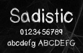 Sadistic 多线条英文字体