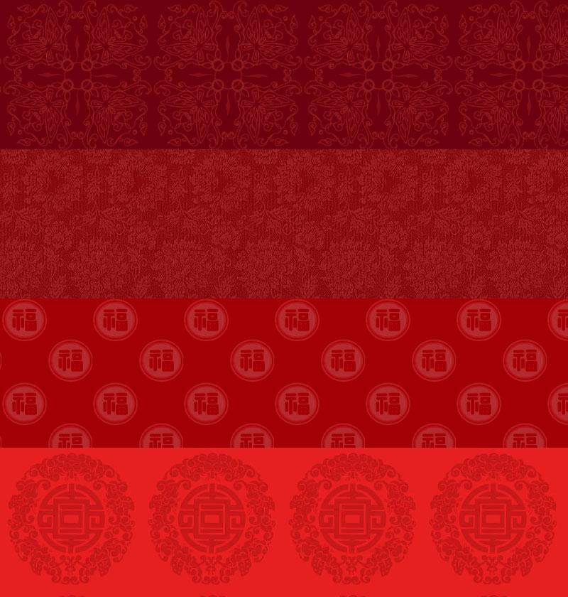 4款春节背景,PS填充图案