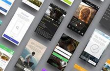 App界面俯视展示模版,PSD源文件
