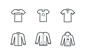 24枚服饰图标,AI源文件