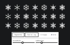 Snowflaker:雪花矢量 SVG 生成工具