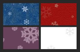 4款雪花无缝平铺图案,pat格式