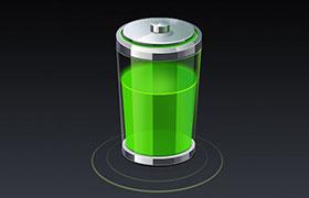 高质感电池矢量素材,PSD源文件
