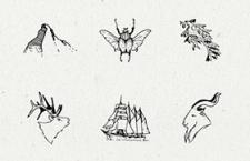 北欧手绘矢量插图,PSD AI 源文件