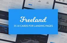 35张网页UI卡片模版,PSD源文件