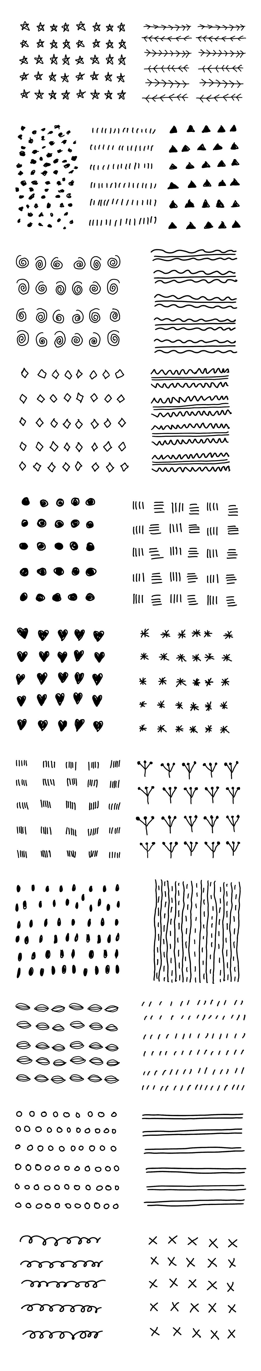 23款矢量手绘图形,PSD源文件