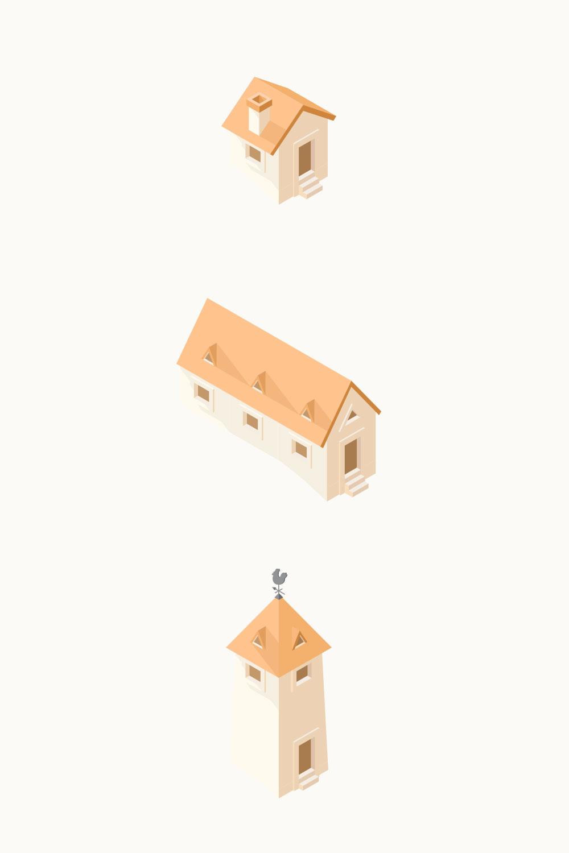 2.5D楼房建筑模型 ,AI源文件