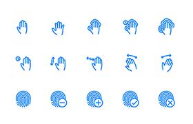 100枚手势指纹图标,AI PSD源文件