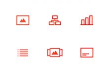 12枚网页图标,PSD源文件