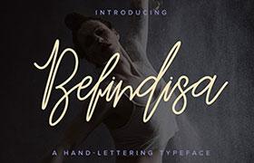 Befindisa 英文字体