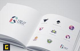 9款彩色Logo模板,AI源文件