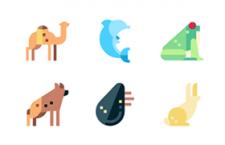 100枚扁平动物图标,SVG PNG格式