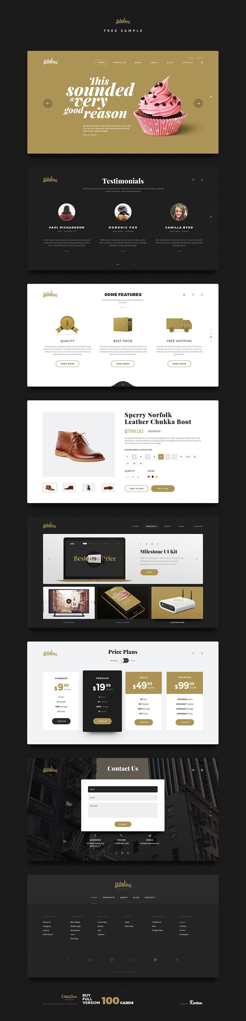 轻奢购物网站模版,PSD源文件