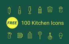 100枚线性厨具图标,AI源文件