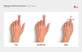 9种高清手势素材,PSD分层