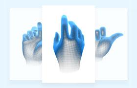 VR虚拟手势,多视角PNG高清素材