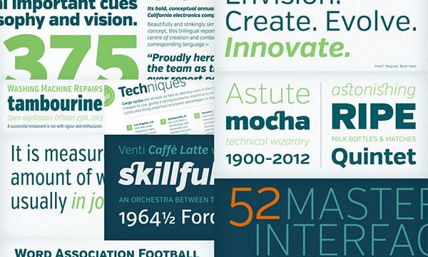 50款设计必备 英文字体