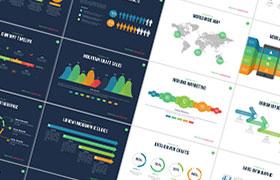 商务数据报表 PPT模版