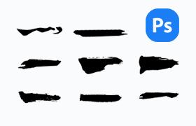矢量书法笔画,PSD源文件