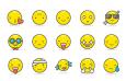 100枚可爱表情图标,AI源文件