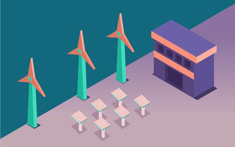 42张扁平化3D场景,AI源文件