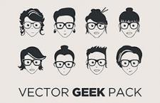 28款Geek极客漫画头像,AI源文件