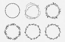 24款可爱的手绘矢量花环,AI源文件