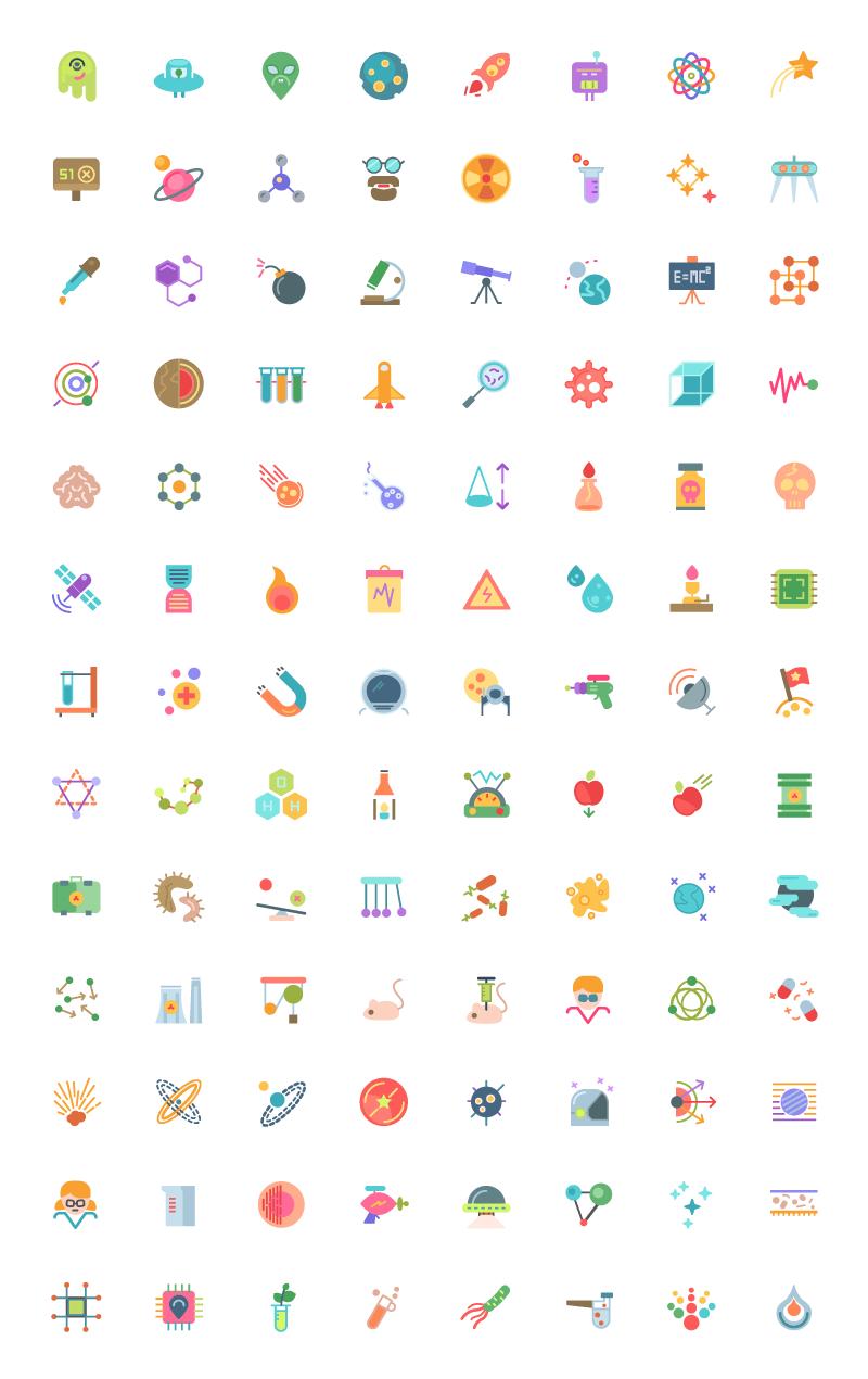 三套104枚太空主题图标,AI源文件